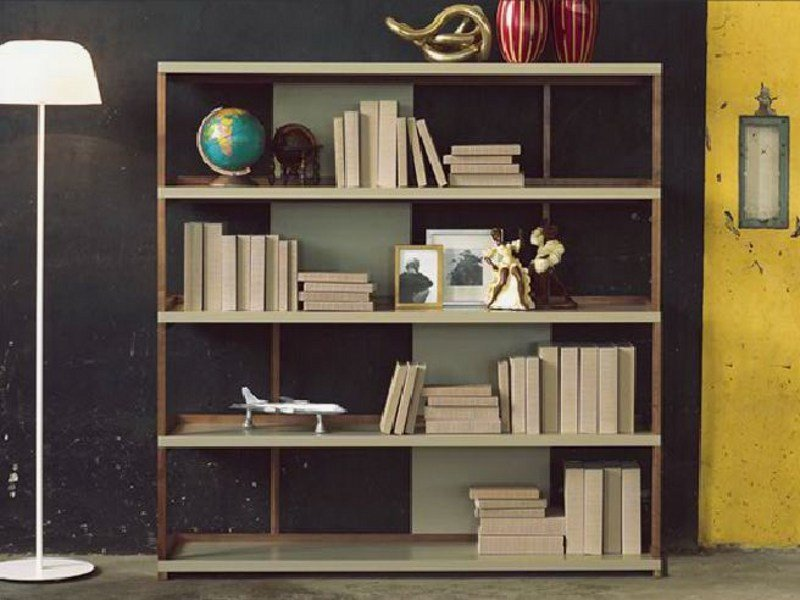 Open solid wood bookcase SIPARIO by LINFA DESIGN