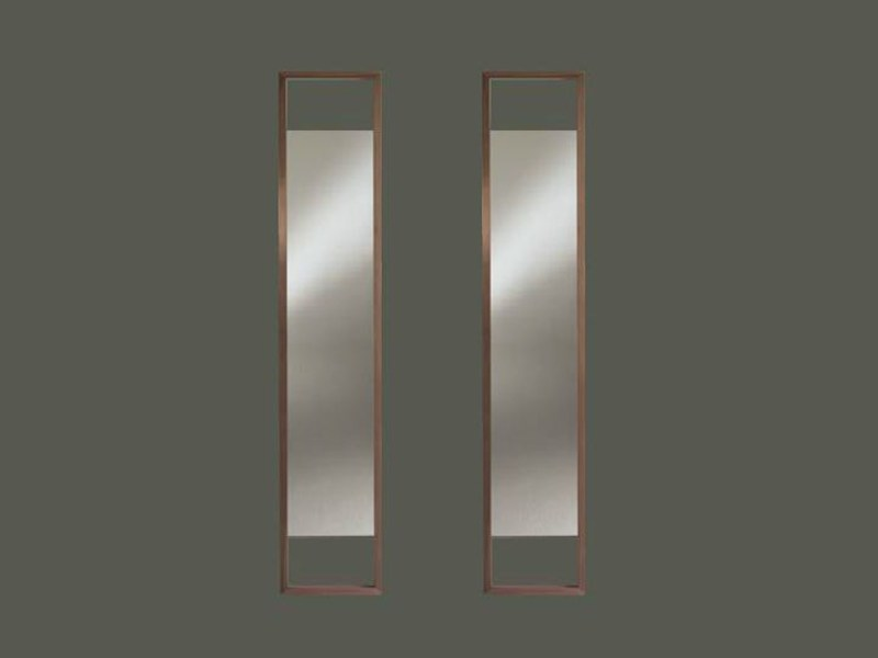 Wall-mounted framed mirror AZIMUT by Linfa Design