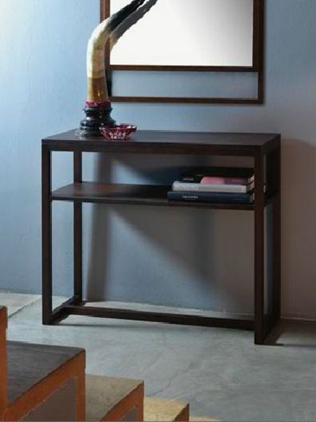 Rectangular oak console table WELCOME by Linfa Design