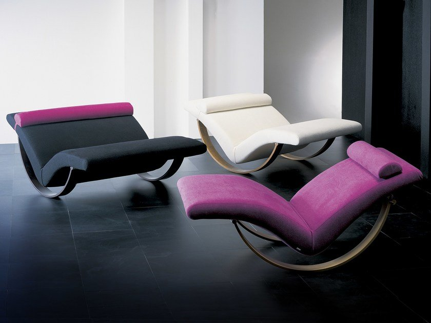 Chaiselongue design  Design upholstered lounge chair GABBIANO By Giovannetti design ...