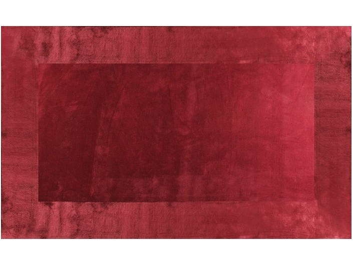 Solid-color handmade rug MOTU RED by EDITION BOUGAINVILLE