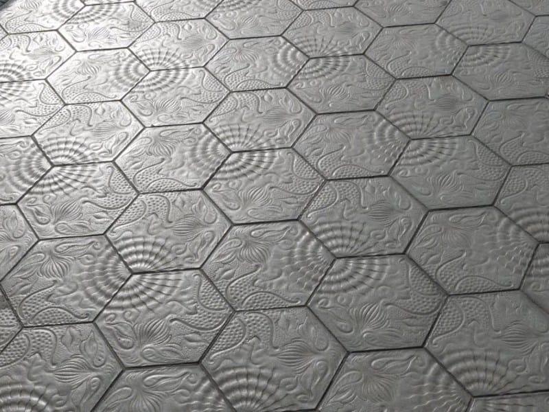 Indoor/outdoor concrete flooring PANOT GAUDÍ by SAS Italia