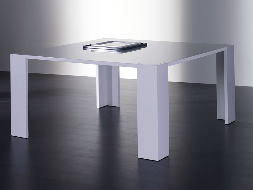 Square wooden dining table BRANDO | Square table by Meridiani