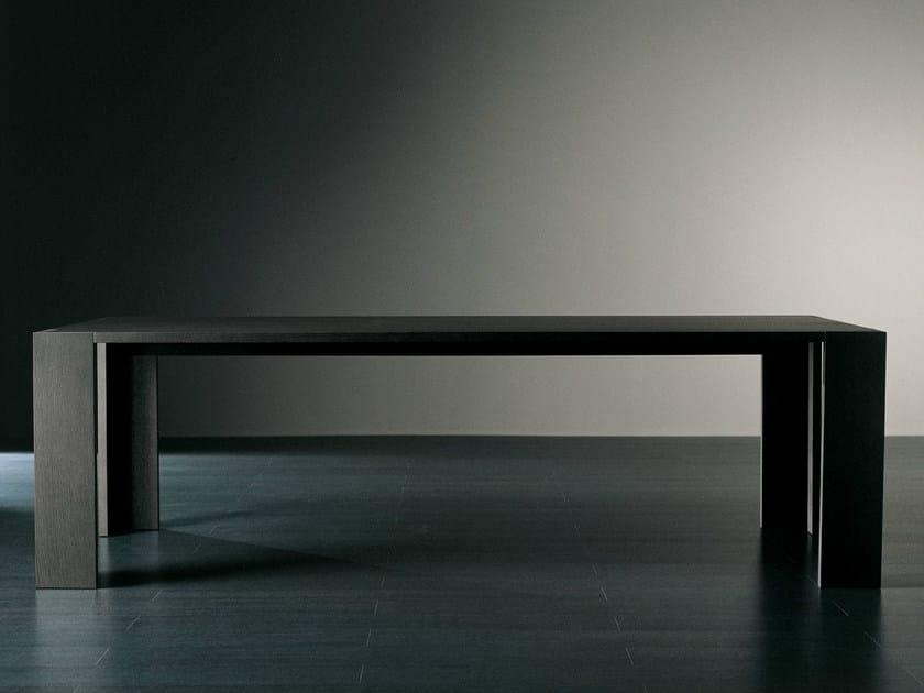 Rectangular wooden dining table BRANDO | Rectangular table by Meridiani