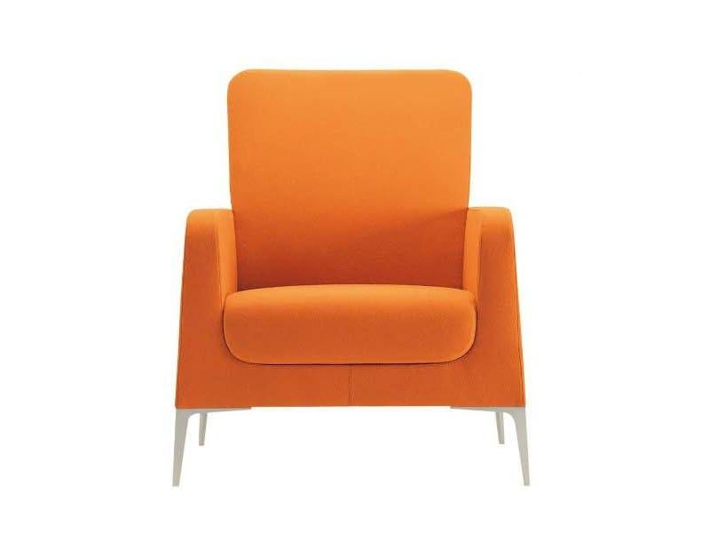 Fabric armchair with armrests ALPHABET - HI OMEGA | Armchair by Segis