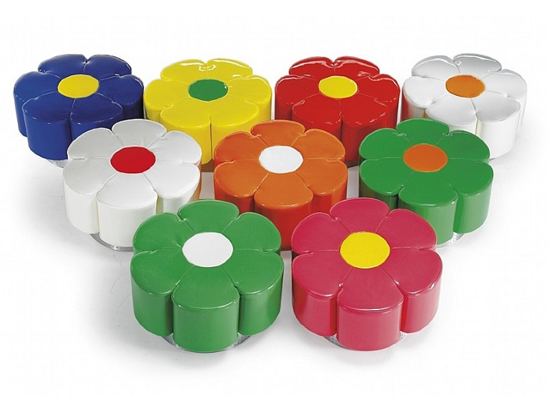 Upholstered polyurethane pouf BLUME by ISD