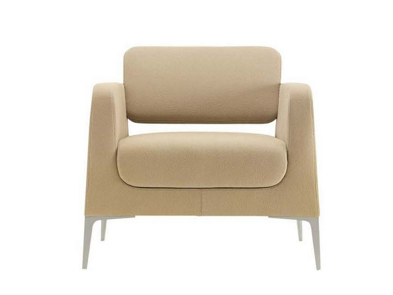 Upholstered armchair with armrests ALPHABET - OMG | Armchair by Segis