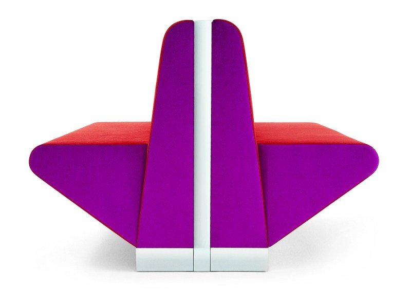 Upholstered modular bench JO-BAR by Segis