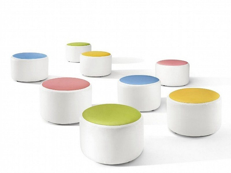 Upholstered pouf BUBBLE by ISD