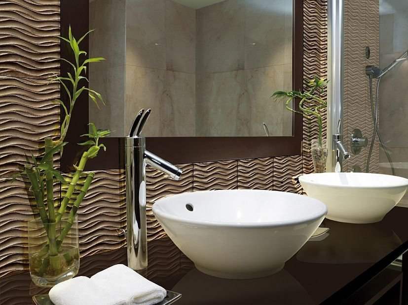 Indoor glass wall tiles WAVE by Brecci Glass