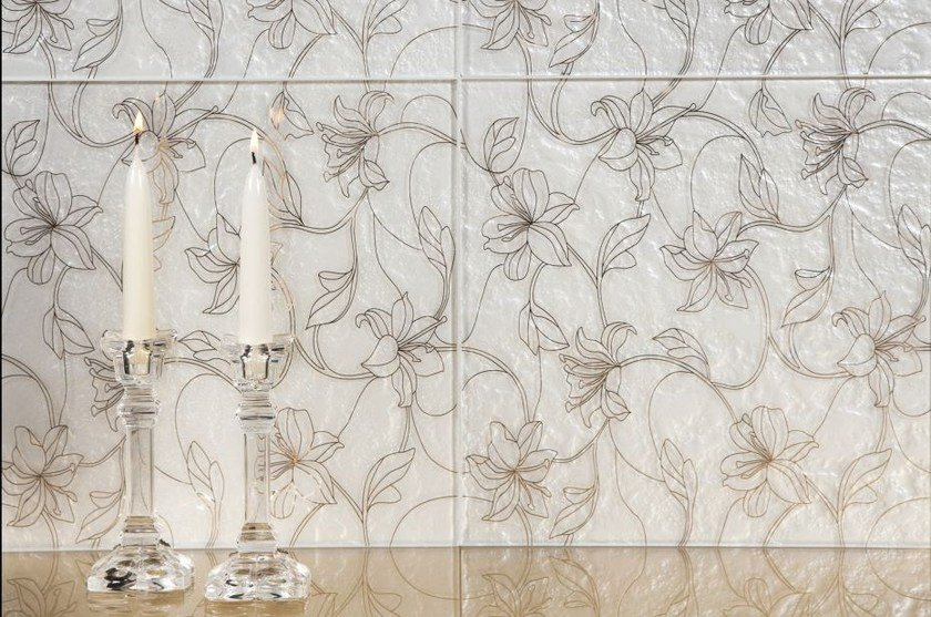 Indoor glass wall tiles FIORI by Brecci Glass