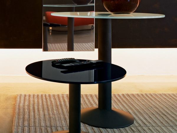 Round tempered glass coffee table ELLIPSE PE800TG by Segis