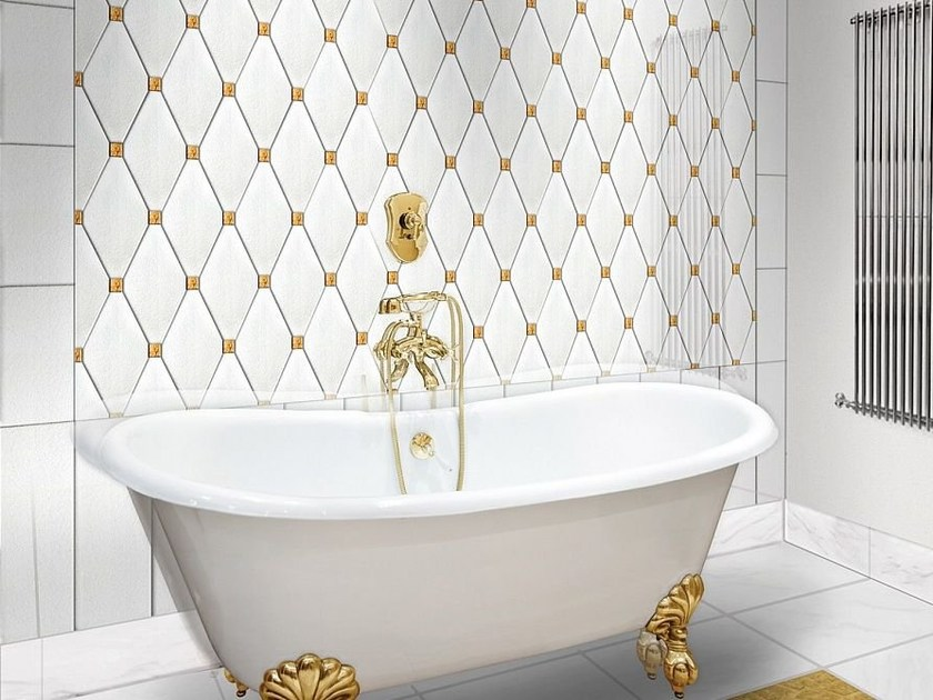 Indoor glass wall tiles CAPITONNÈ by Brecci Glass