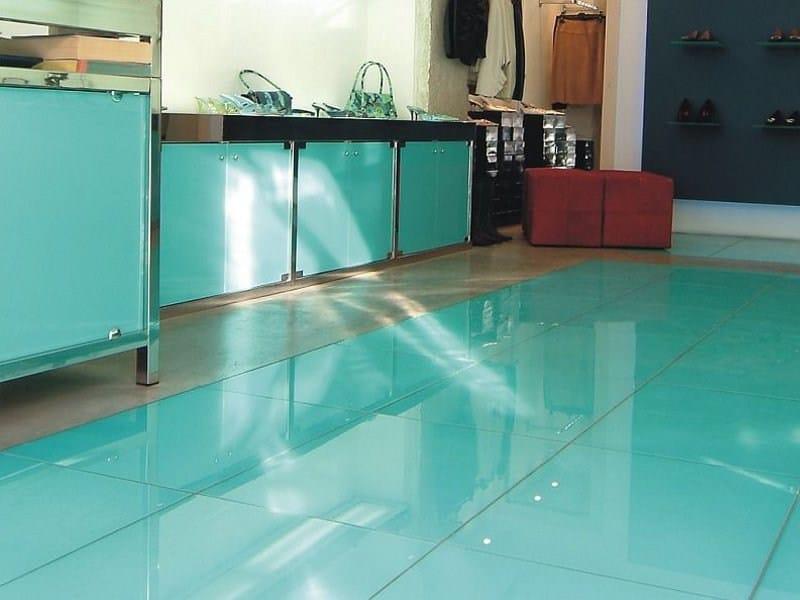 Rev tement de sol mur en verre shine metal e flat by - Pintura para baldosas de cocina ...