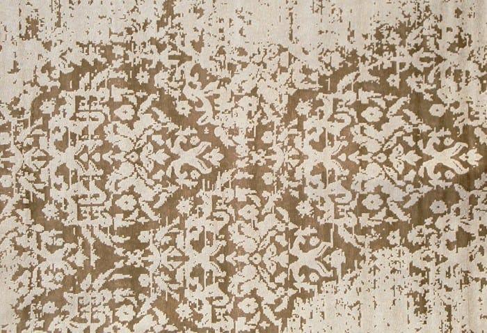 Contemporary style handmade rug TAJ MAHAL PLATINE by EDITION BOUGAINVILLE