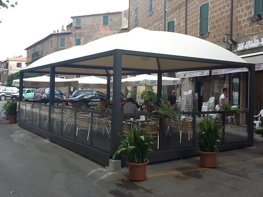 Gazebo multifunzionale in acciaio ambra sprech for Arredi esterni per bar e ristoranti