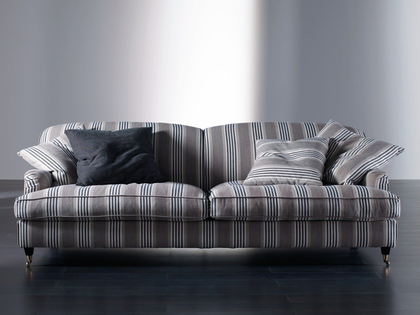 Sofa with removable cover with casters HARRISON by Meridiani