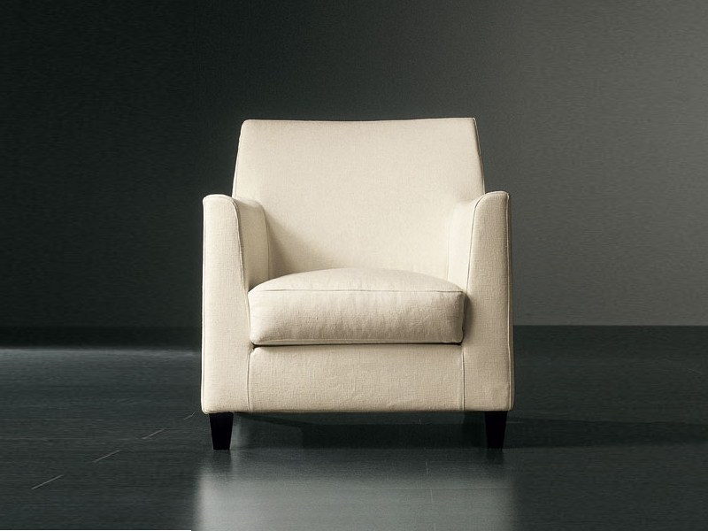 Armchair with removable cover BISSÈ   Armchair by Meridiani