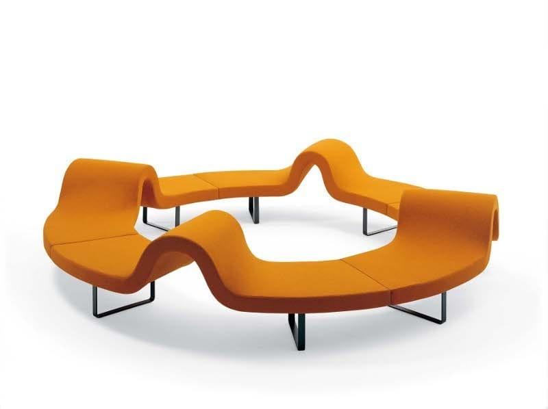 Round modular bench LONGWAY E by Segis