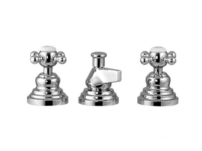 3 hole bidet tap with spray VIVALDI   Bidet tap with spray by Gattoni Rubinetteria