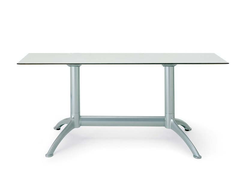 Rectangular die cast aluminium table K2 | Table by Segis