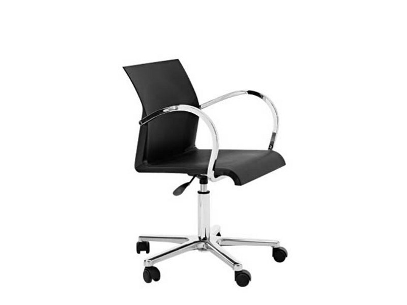 Swivel task chair with 5-Spoke base with casters IRON R0954 B/N by Segis