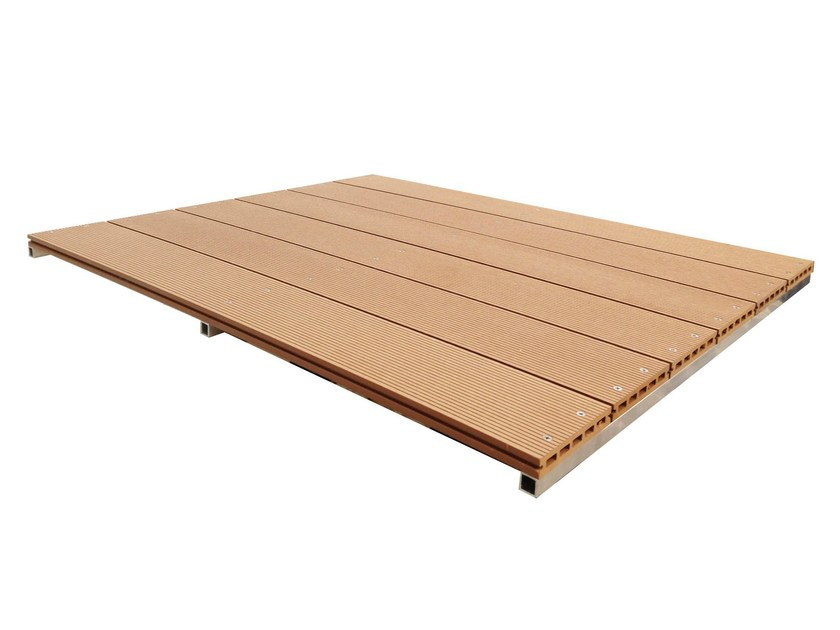 Engineered wood decking Pre-Assembled Panels by NOVOWOOD