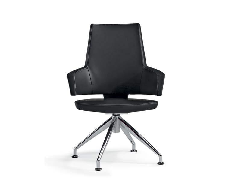 Trestle-based medium back executive chair BOSS   Trestle-based executive chair by MASCAGNI