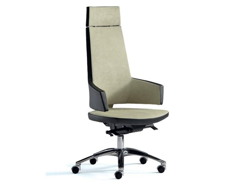 Height-adjustable high-back executive chair BOSS | High-back executive chair by MASCAGNI