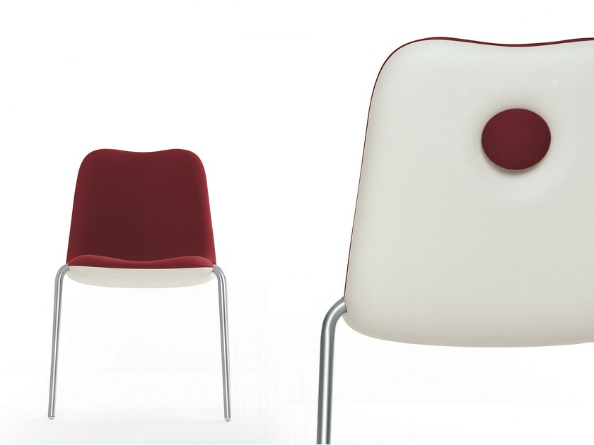Stackable chair BOUM | Stackable chair by Kristalia