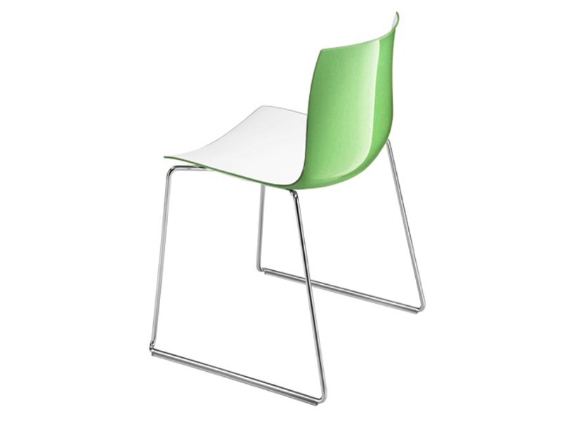 Sled base chair CATIFA 46 | Sled base chair by arper