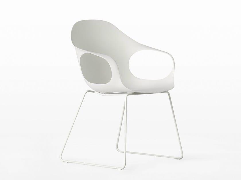 Sled base polyurethane chair ELEPHANT | Sled base chair by Kristalia