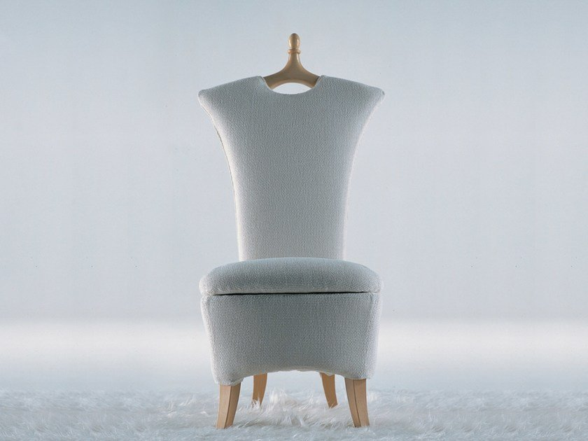 Fabric armchair with removable cover ANCELLA by Giovannetti