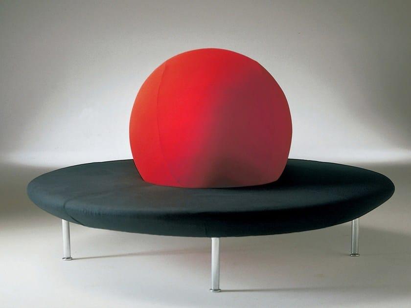 Curved fabric sofa GIRAMONDO by Giovannetti
