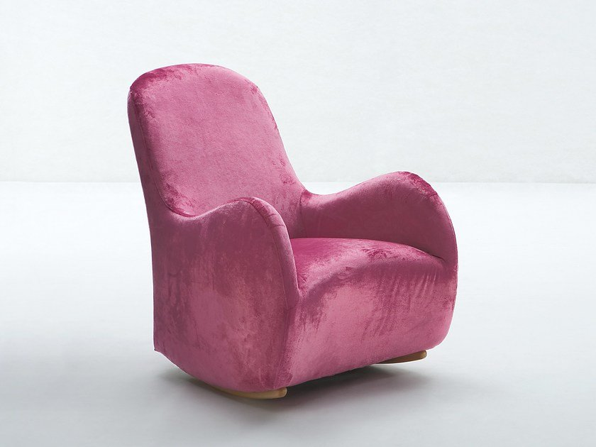 Rocking armchair GONGOLO by Giovannetti