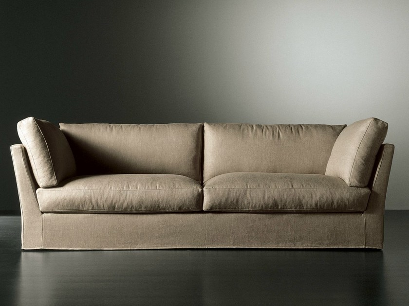 Sofa with removable cover QUEEN | Sofa by Meridiani