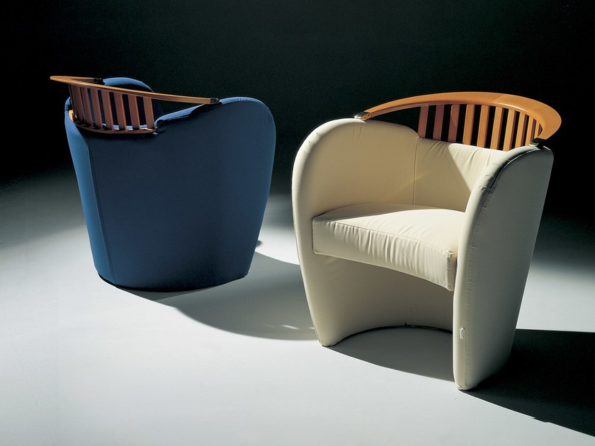 Upholstered armchair with armrests NAUSICAA by Giovannetti