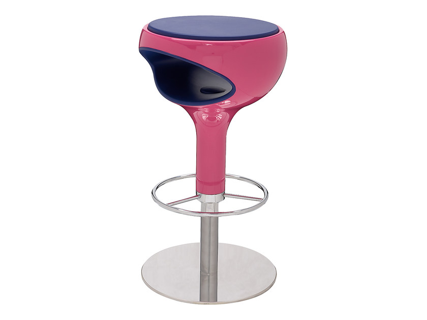 Height-adjustable barstool RING | Stool by Giovannetti