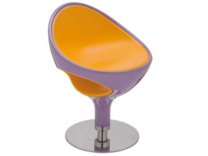 Swivel polyurethane easy chair RING | Easy chair by Giovannetti