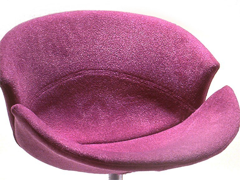 Swivel fabric chair ROSE by Giovannetti