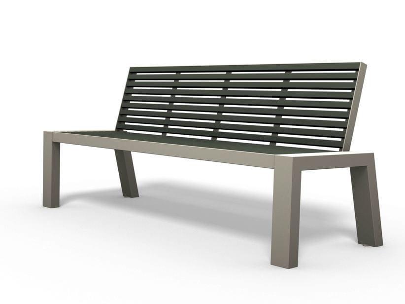 COMFONY 10   Panchina con schienale Panchina in acciaio inox e PVC