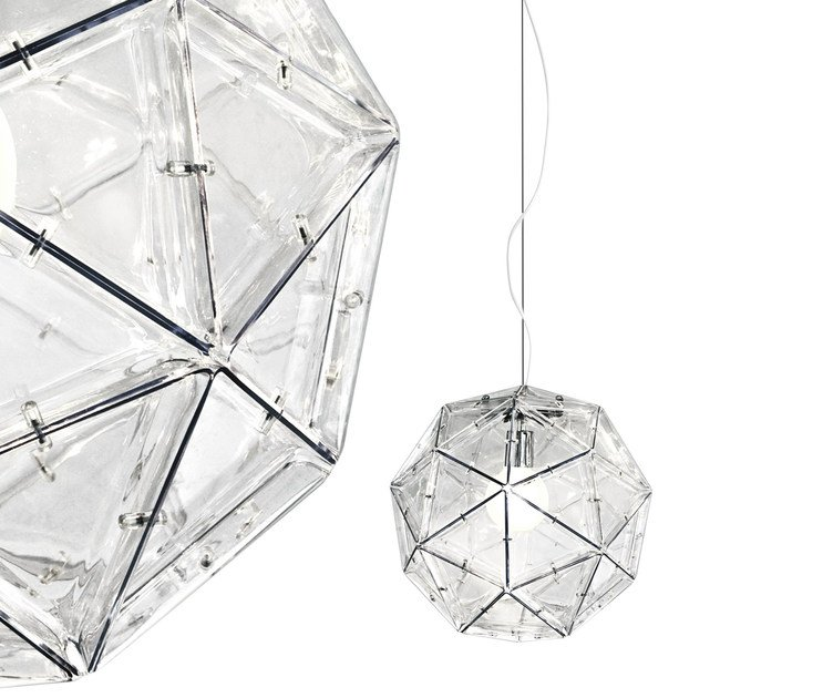 Polycarbonate pendant lamp POLIEDRO by Martinelli Luce