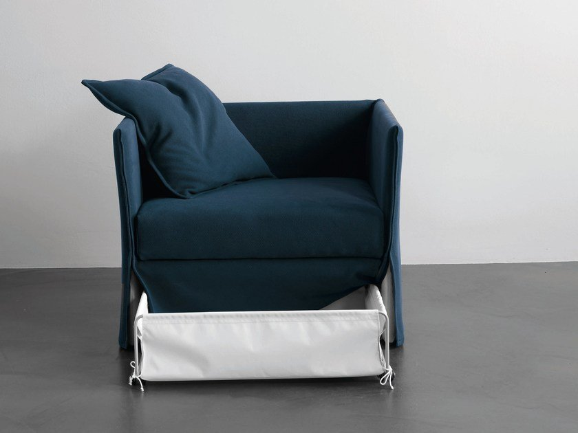 Armchair bed with removable cover FOX | Armchair bed by Meridiani