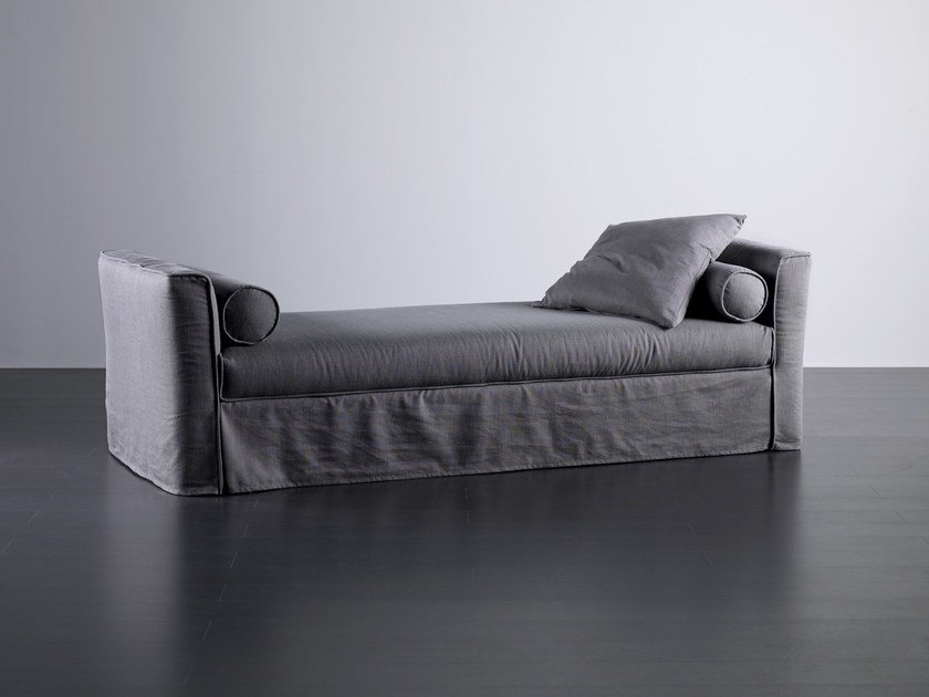 Upholstered fabric day bed LAW | Day bed by Meridiani