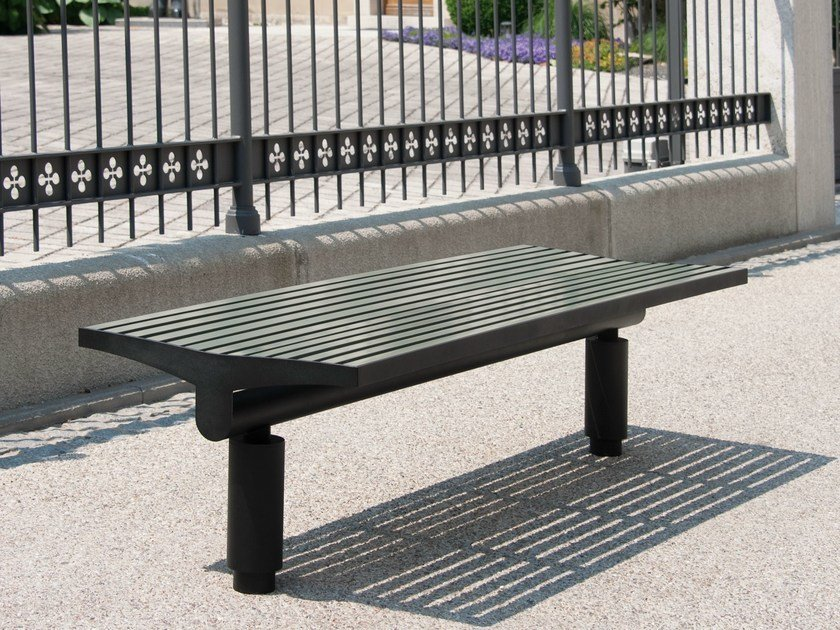 Backless stainless steel and PET Bench COMFONY 400 | Backless Bench by BENKERT BÄNKE