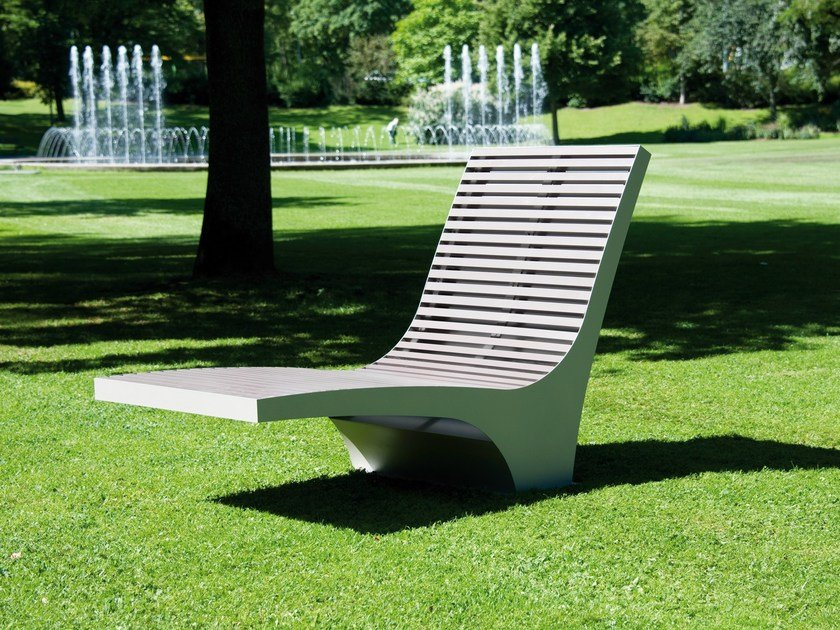 Stainless steel and PET outdoor chair COMFONY 600 by BENKERT BÄNKE