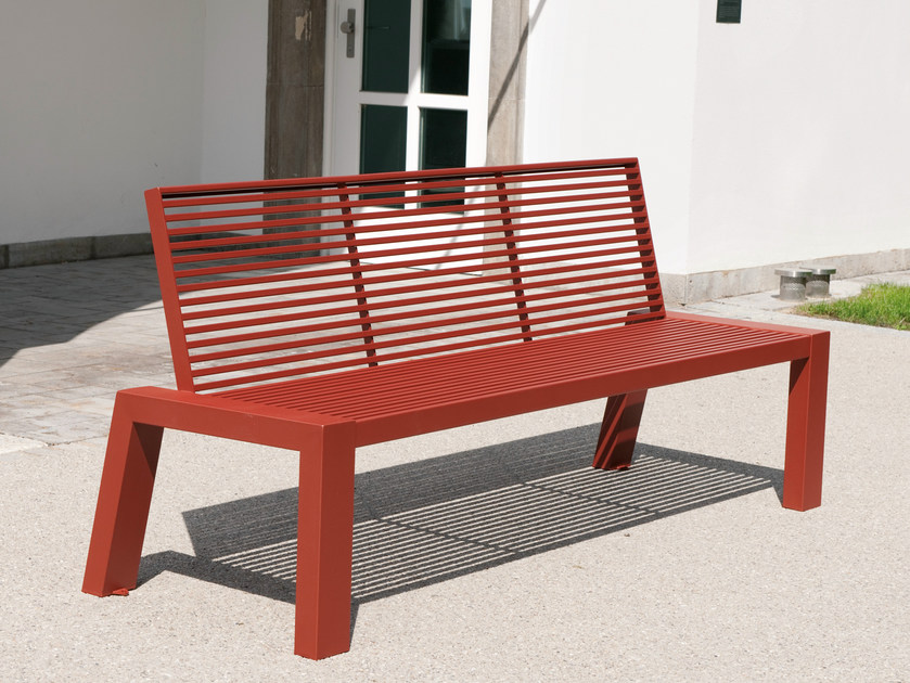Bench with back SICORUM M100 | Bench with back by BENKERT BANKE