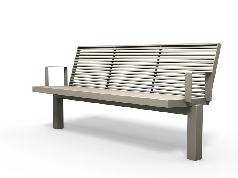 Bench with armrests SICORUM M 400 | Bench with armrests by BENKERT BÄNKE