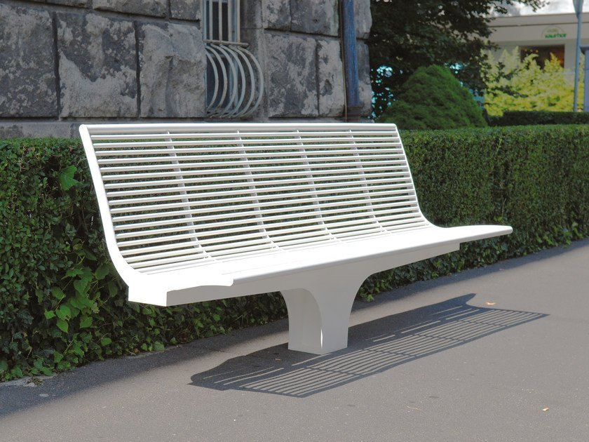 Sectional stainless steel Bench SIARDO S 20 R | Bench by BENKERT BANKE