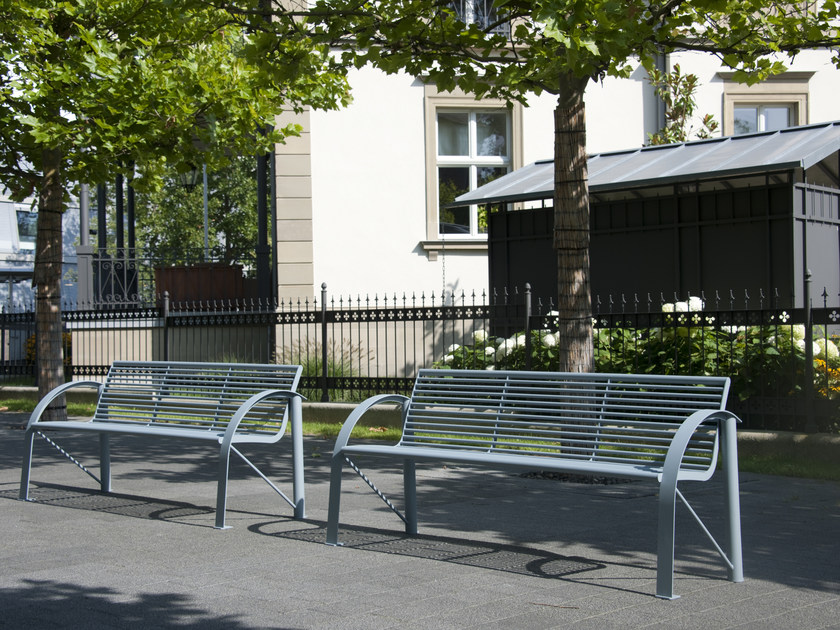 Bench with armrests SIARDO 120 R by BENKERT BANKE